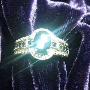 Clyde Duneier Sapphire and Diamond Ring